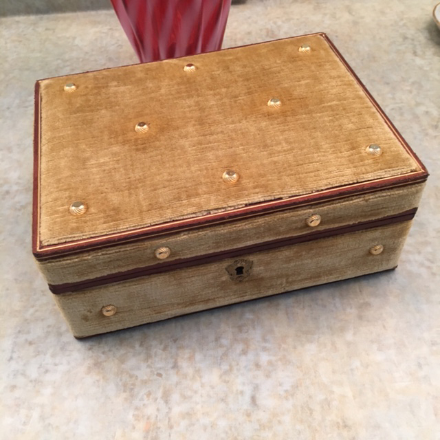 RING BOX and jewelry box with golden velvet Morning Glory Jewelry