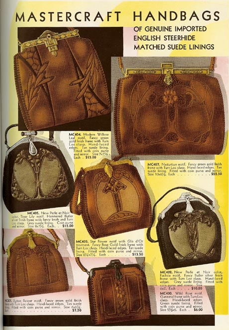 1d3dda157b ARTS   CRAFTS leather purse basket of sweet peas purse with Jemco frame