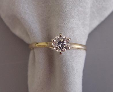 809e49efc6ad DIAMOND solitaire 14 karat gold ring .47 carat diamond - Morning ...