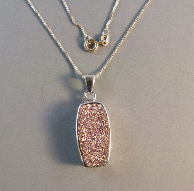 S Star Mark Sterling And Bronze Colored Drusy Pendant 1 By 2 Weighs 23 Ounces The Is Unknown To Me