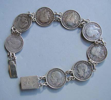 Sterling Coin Bracelet