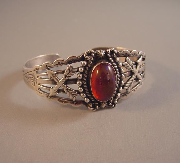 Dragon 39 s breath fred harvey era sterling bracelet maisel for Thunderbird jewelry albuquerque new mexico
