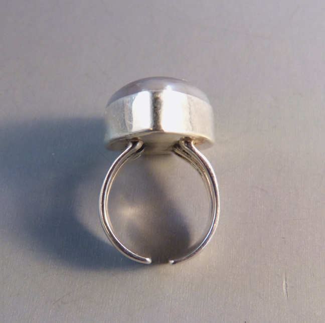 Si 925 Marked Sterling And Gray Drusy Ring Size 8 1 2 Slightly Adjule By 3 4 Top I Don T Know What Maker The Mark On This Stands For