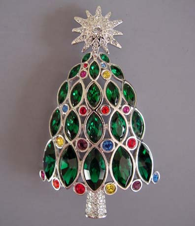 SWAROVSKI 2005 Rockefeller Christmas tree brooch - Morning Glory ...