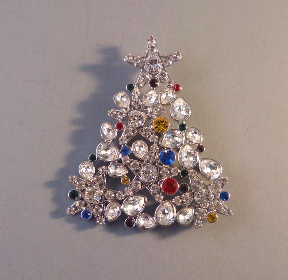 Jewelry Christmas Trees.Swarovski 2006 Rockefeller Christmas Tree Brooch With Box 198 00 Morning Glory Jewelry Antiques