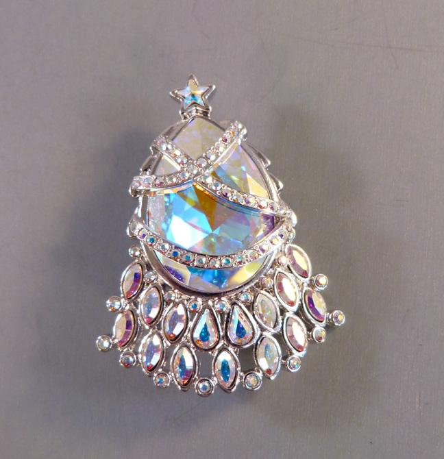 SWAROVSKI rare Christmas tree brooch with brilliant aurora borealis  rhinestones - $398 00 - Morning Glory Jewelry & Antiques