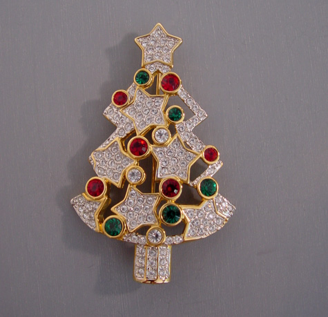 Swarovski Christmas Tree Brooch Nordstrom S Exclusive Morning