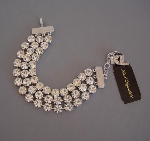 Karl Lagerfeld Clear Rhinestones Wide Bracelet 168 00