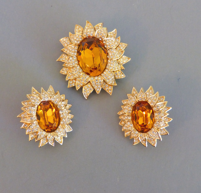 These Are In Excellent Condition As Though They Were Never Worn And The Earrings Have Original Tag Set Comes With Dior Box