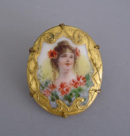 Antique hand painted porcelain bracelet