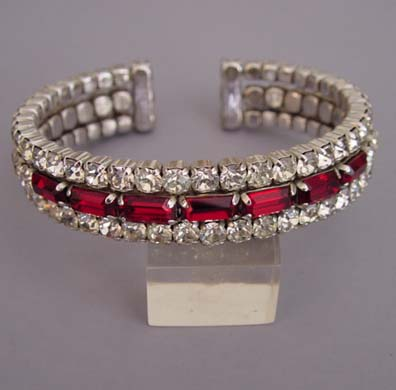 Red And Clear Rhinestones
