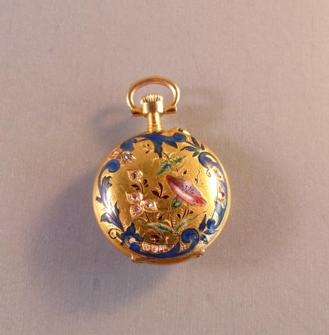 Other Watches Honest Vintage 18k White Gold 17 Jewel Swiss Black Enamel Gemstone Crown Broach Watch Watches, Parts & Accessories