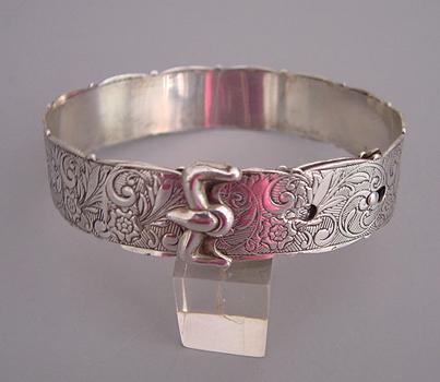 VICTORIAN silver buckle bracelet