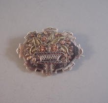 Exceptional!! Antique Silver Victorian Snake on Tree Branch Silver Brooch ~ Eternal Love from the 1800/'s